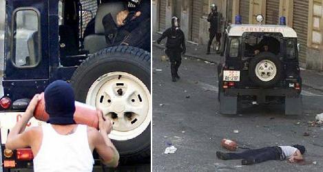 Giuliani in Genoa clash