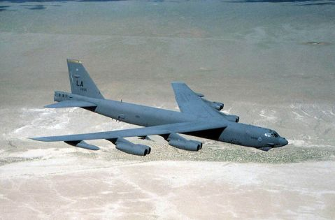 B-52 in flight