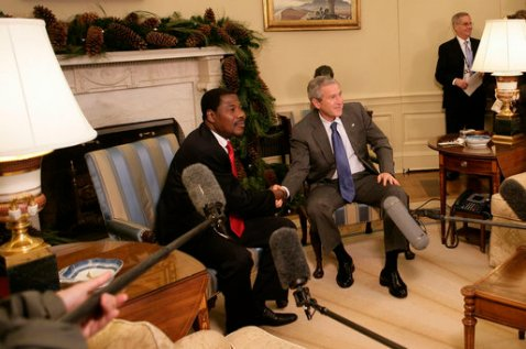 Yayi and Bush met at the White House