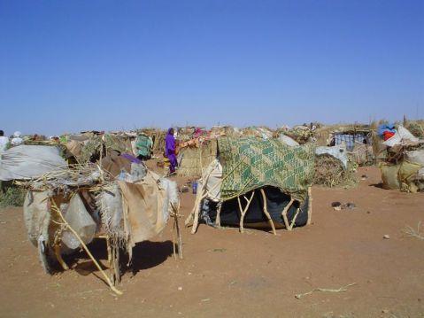 A refugee camp in Darfur