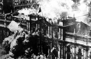 Chilean presidential palace bombed on September 11, 1973