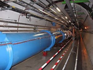 Tunnel of the Large Hadron Collider (LHC) of the European Organization for Nuclear Research