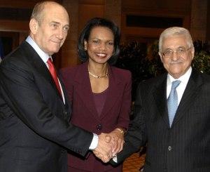 Olmert, Rice and Abbas
