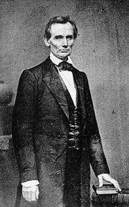 Lincoln photo taken February 27 in New York City by Mathew Brady