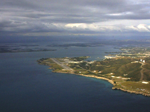 Aerial view of Guantánamo Bay