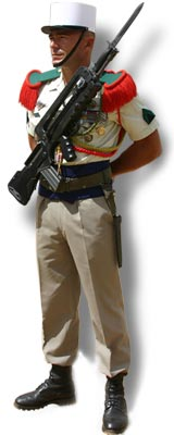 Légionnaire in modern uniform