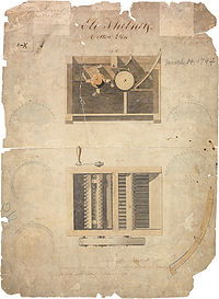 Patent for Cotton Gin