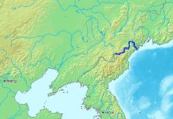 Tumen River between China and North Korea