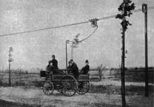 World's first trolleybus