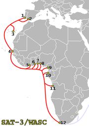 SAT-3 Map