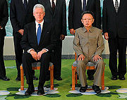 Bill Clinton and Kim Jong-il