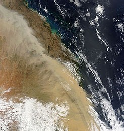 Satellite image of the dust storm