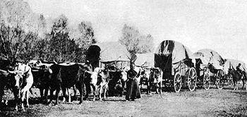Emigrant wagon train