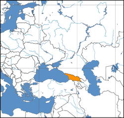 Georgia location in Europe