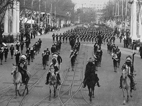 Indian chiefs headed by Geronimo at Roosevelt inauguration
