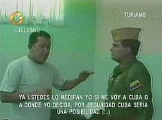 Chávez, under arrest in Turiamo