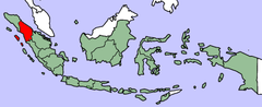 North Sumatra in red