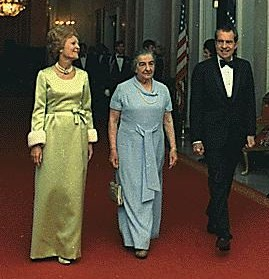 Golda Meir, Pat and Richard Nixon in 1973