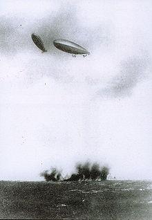 Italian dirigibles over Libyan Territory